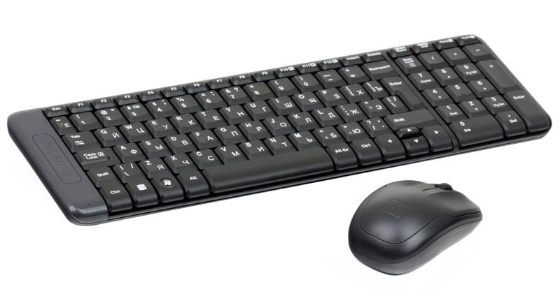 (920-003169) Клав. + Мышь Беспроводная Logitech Wireless Desktop MK220 комплект logitech mk220 черный usb 920 003169