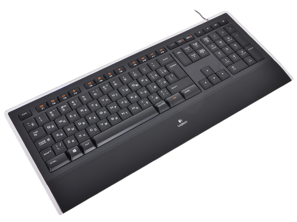 Illuminated Keyboard K740 Black USB клавиатура logitech illuminated k740 black usb
