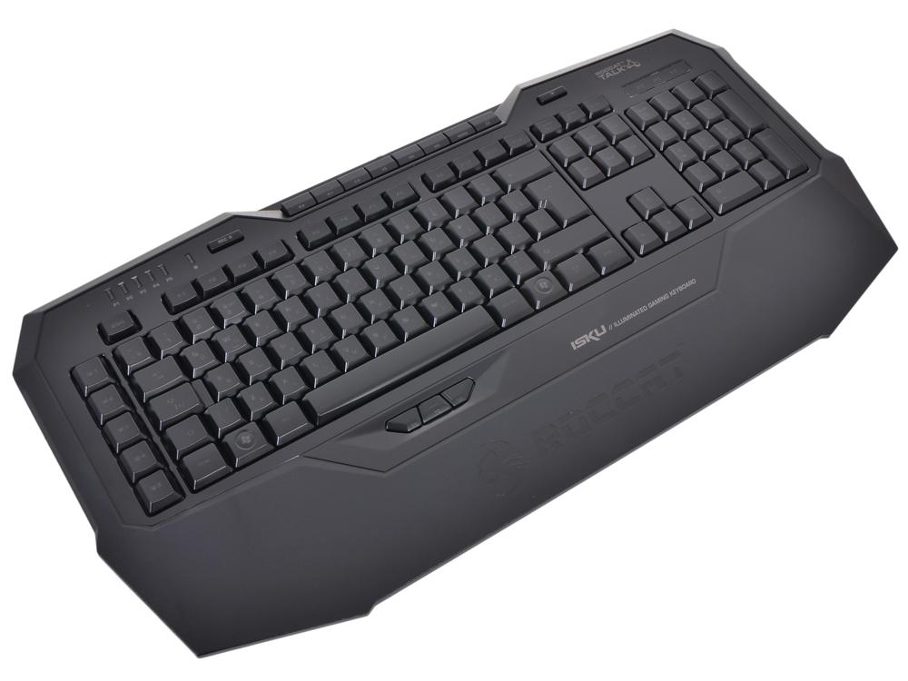 Клавиатура ROCCAT Isku [ROC-12-711/ 12-704], интерфейс USB, черная клавиатура roccat isku fx