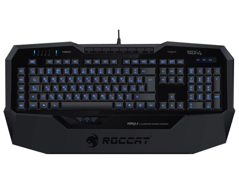 Клавиатура ROCCAT Isku FX [ROC-12-911], USB, черная Многоцветная подсветка из 16,8 млн цветов; 6 уровней яркости, клавиатура roccat isku fx