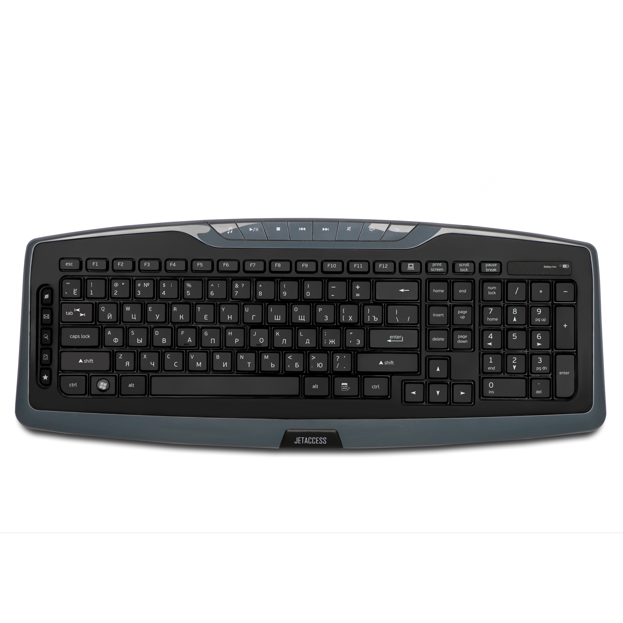 Беспроводная клавиатура Jet.A SlimLine K17 W Gray USB 104 клавиши + 14 стоимость