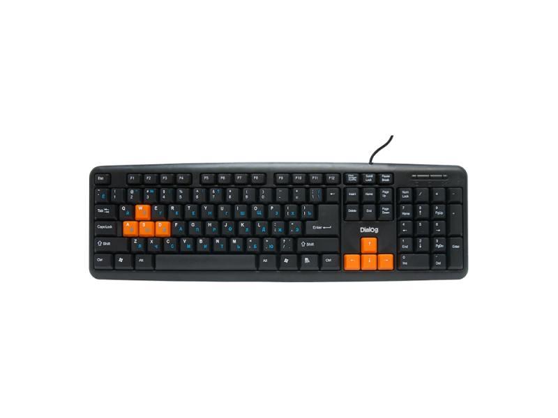 Клавиатура Dialog Standart KS-020U черно-оранжевый USB цена и фото