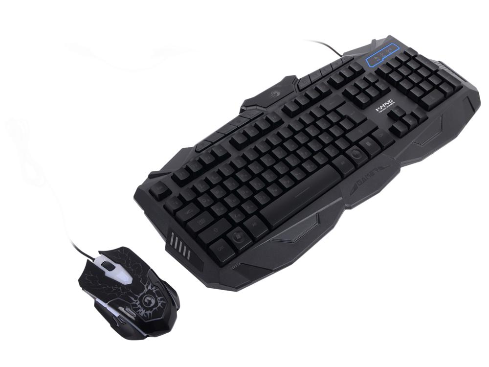Клавиатура + Мышь игровой комплект MARVO KM400 (KM800), подсветка, кабель 1.5 м. клавиатура: 104 кл. 10 мультимедиа кл. мышь: 2400dpi, 6 кн. игровой комплект marvo var 361