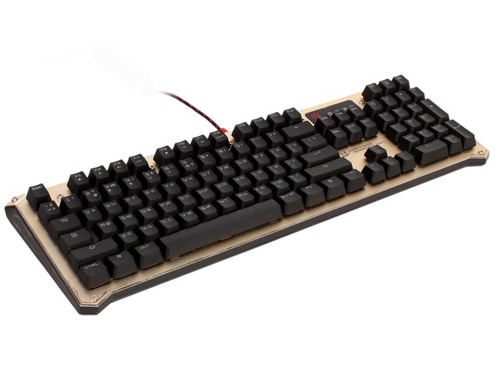 все цены на Клавиатура механическая A4Tech Bloody B840 золотистый/черный USB Gamer LED онлайн
