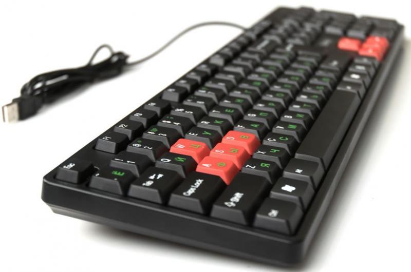 Клавиатура Dialog KS-030U USB черный красный фонарь налобный яркий луч lh 030 черный