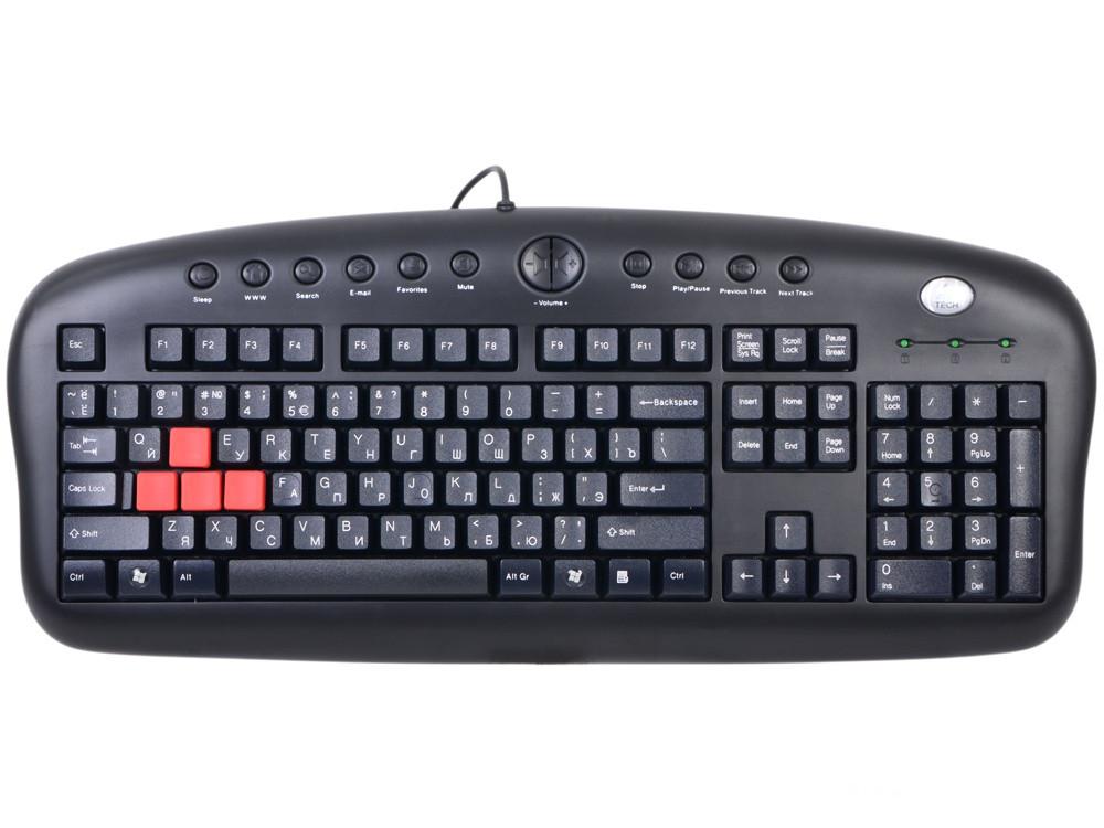 лучшая цена Клавиатура A4Tech KB-28G-1 Multimedia черный USB