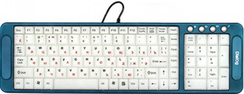 Клавиатура Dialog Katana KK-L04U USB синий цена и фото