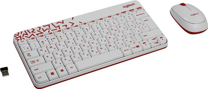 (920-008212) Клав. + Мышь Беспроводная Logitech Wireless Combo MK240 Nano White