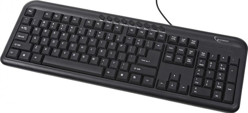 Клавиатура Gembird KB-M-101-RU PS/2 черный