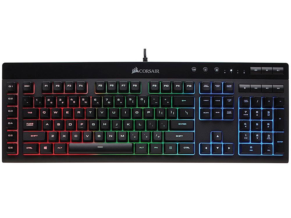 Клавиатура Corsair Gaming K55 RGB USB черный