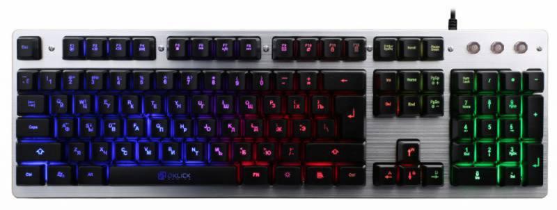 Клавиатура проводная Oklick 770G USB черный серый клавиатура oklick 717g black death usb черный серый