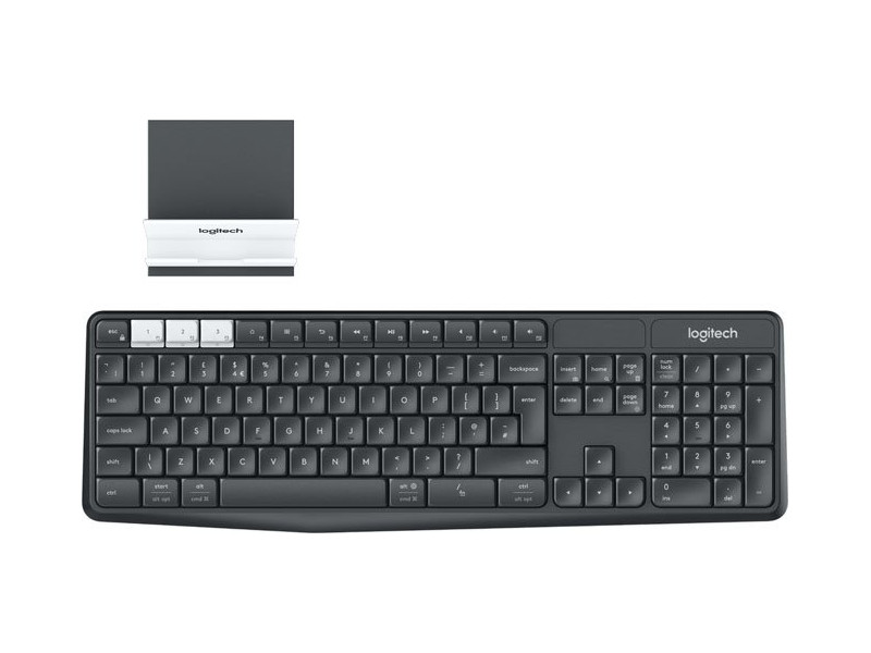 Беспроводная клавиатура Logitech Wireless Multi-Device Keyboard and Stand Combo K375s Graphite USB
