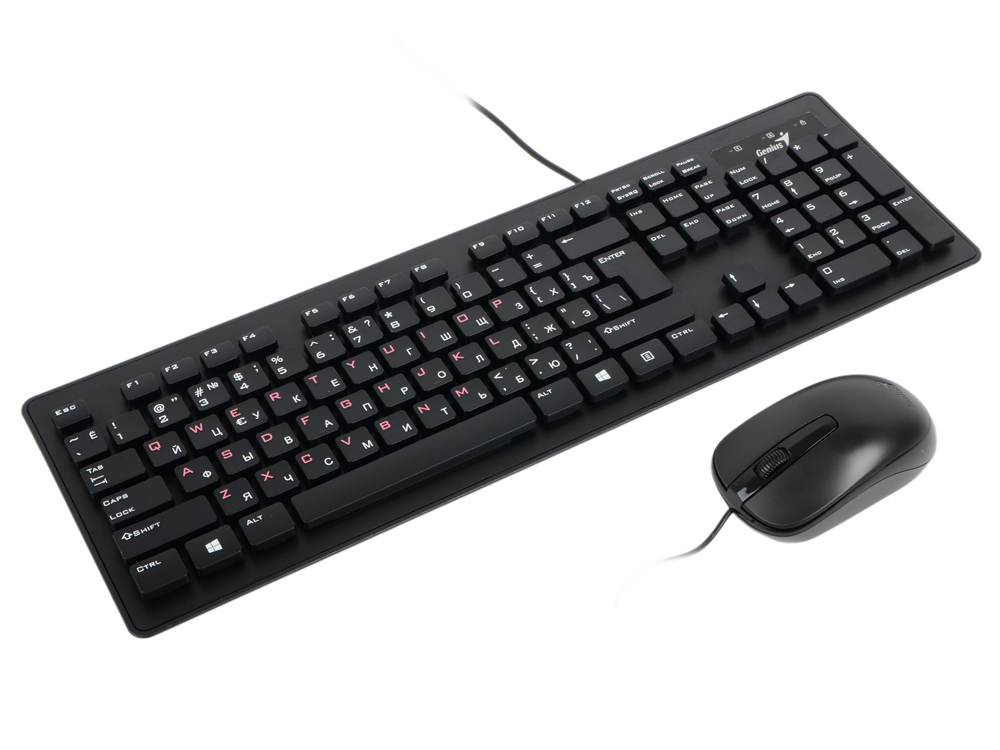 Клавиатура + мышь Genius SLIMSTAR C130 Black USB wired, RU,CB клавиатура dell kb522 wired business multimedia keyboard black usb 580 17683