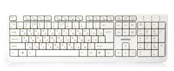 Клавиатура проводная мультимедийная Smartbuy ONE 208 USB белая [SBK-208U-W]
