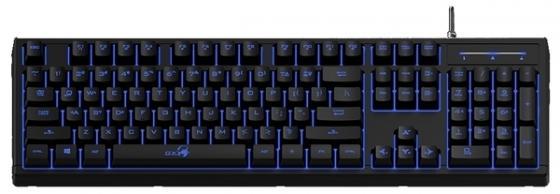 Клавиатура проводная Genius Scorpion K6 USB черный проводная клавиатура и мышь набор клавиатура проводная мышь и клавиатура установлена компьютерная периферия