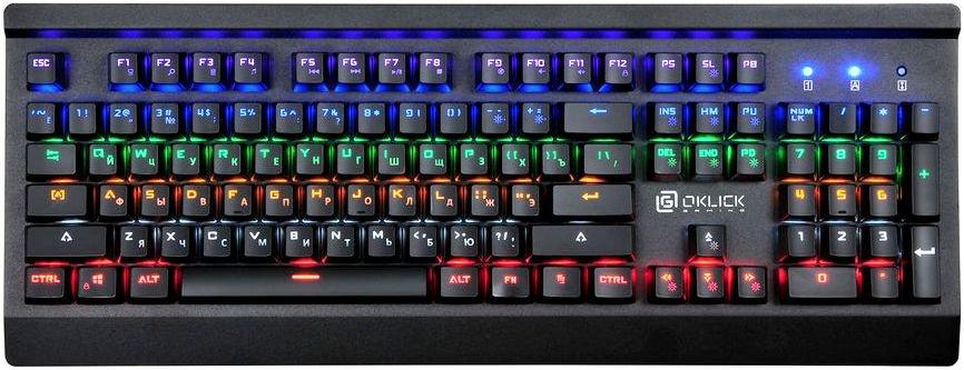 Клавиатура Oklick 920G IRON EDGE механическая черный USB Gamer LED