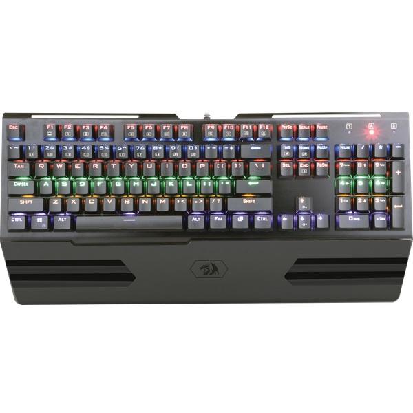 все цены на Клавиатура Redragon Hara RU Black USB проводная, 104 клавиши + 12 онлайн