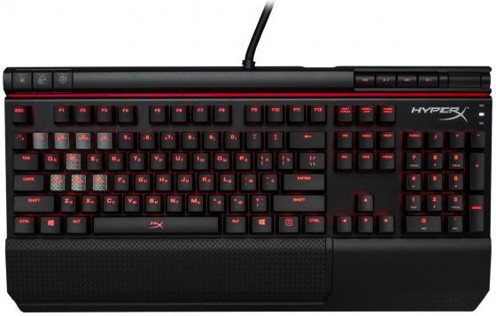 Клавиатура HyperX Alloy Elite HX-KB2BL1-RU/R1 USB (Cherry MX Blue) клавиатура corsair gaming k70 rapidfire cherry mx speed black usb [ch 9101024 ru]