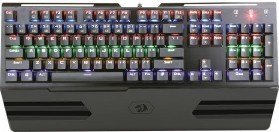 все цены на Клавиатура проводная Defender Redragon Hara USB черный 74944