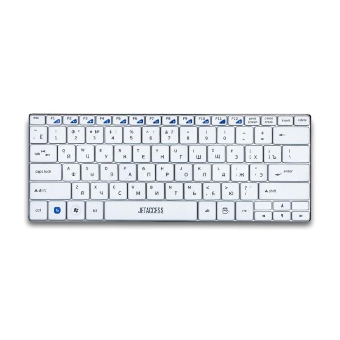 Клавиатура беспроводная ультракомпактная Jet.A SlimLine K7 W, USB интерфейс, белая surface mount fuses 32v 4a vfa slimline 100 pieces