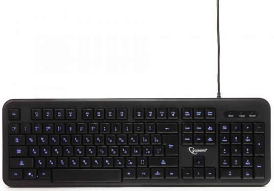 Клавиатура Gembird KB-200L Black USB проводная, 104 клавиши клавиатура gembird kb 8351u bl черный usb 104 клавиши