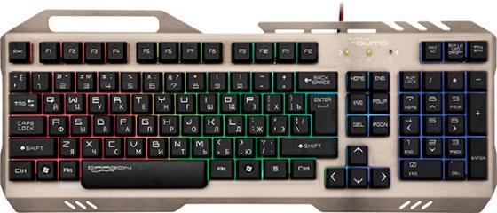 Клавиатура проводная QUMO ReaL SteeL K05 USB серебристый черный цена и фото