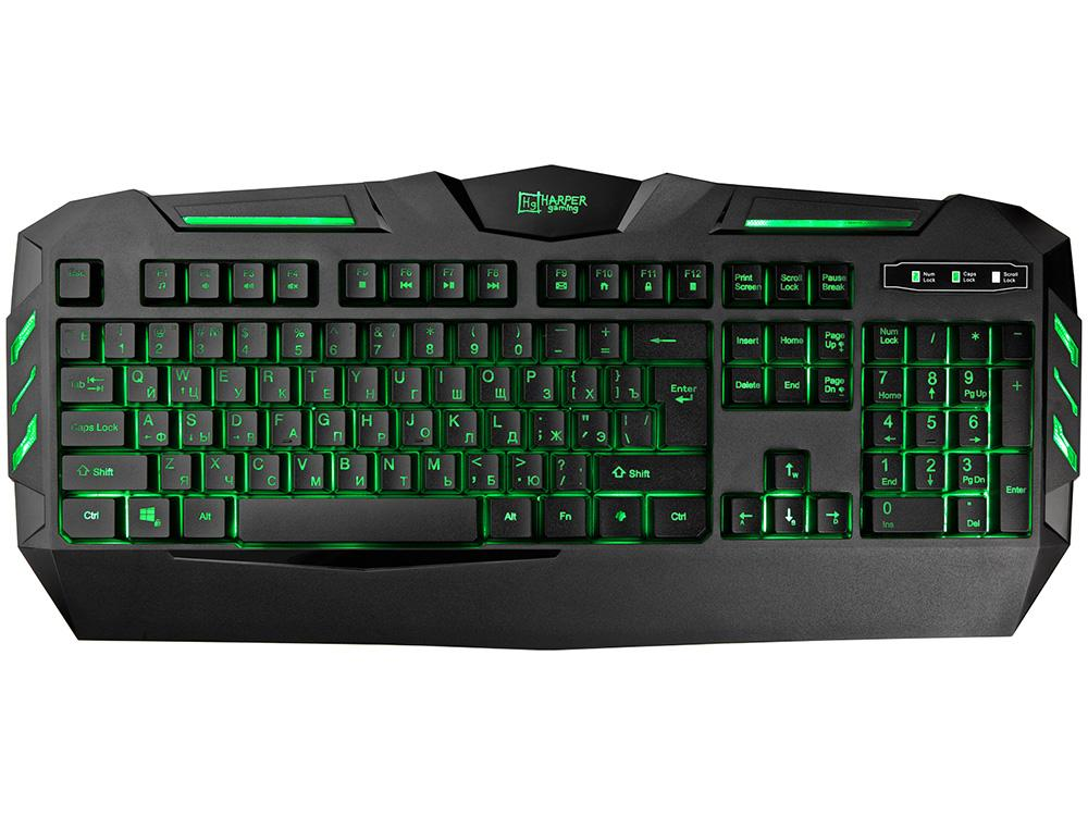 Клавиатура Harper Gaming Backfire GKB-15 Black USB проводная, 104 клавиши + 12 et i 700 mechanical gaming keyboard 104 keys black