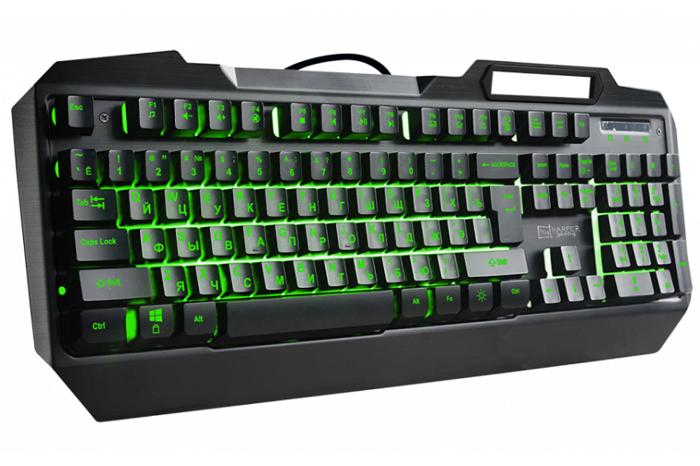 Клавиатура Harper Gaming Fulcrum GKB-20 Black USB проводная, 104 клавиши et i 700 mechanical gaming keyboard 104 keys black