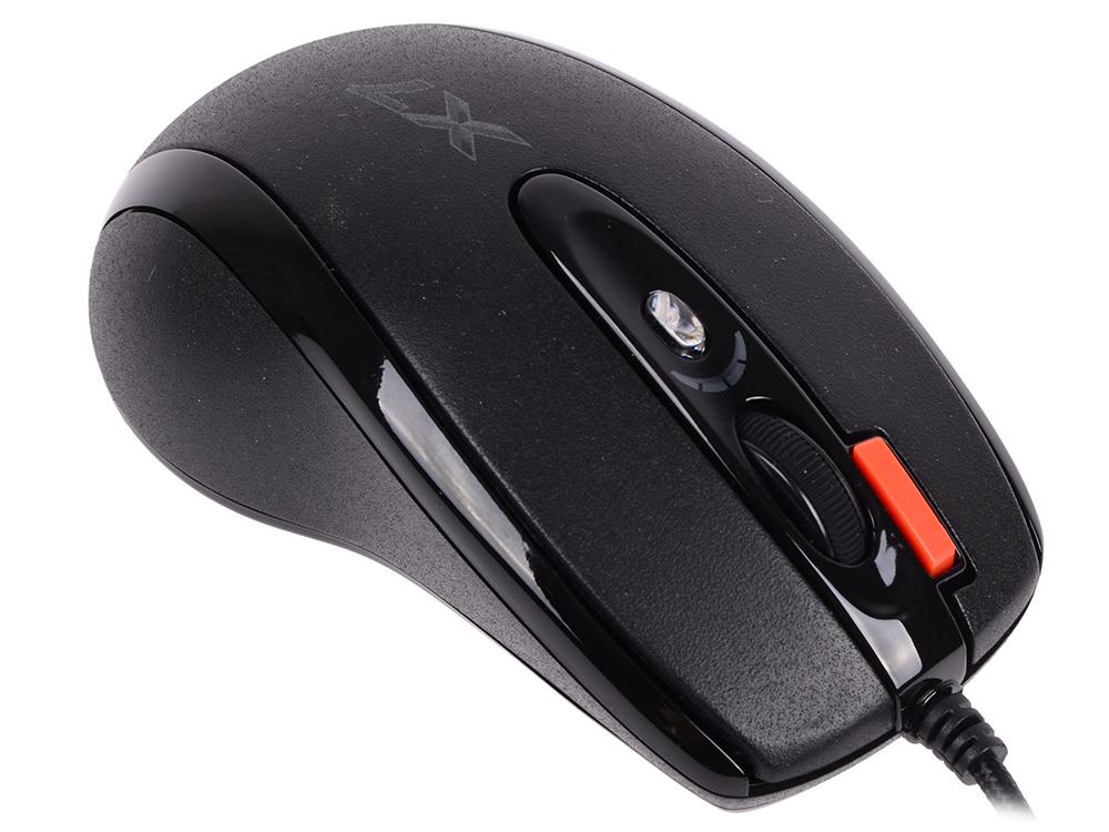 Мышь A4-Tech X-718BK, USB (черный) 6 кн, 1 кл-кн, 3200 dpi a4 tech n 250x 1