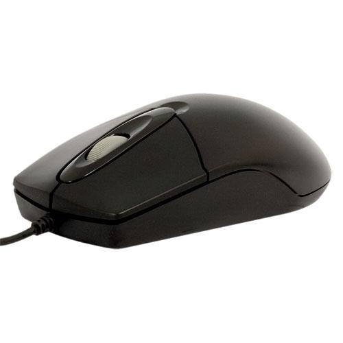 Мышь A4-Tech OP-720, оптическая, работать без коврика на большинстве поверхностей, 800 dpi, черный, USB