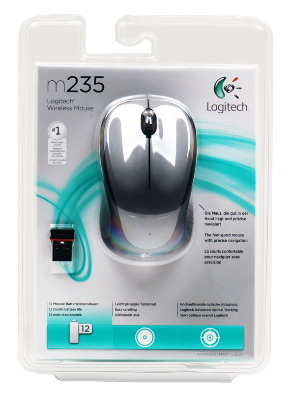 Мышь (910-002203) Logitech Wireless Mouse M235 Colt Matte цена и фото