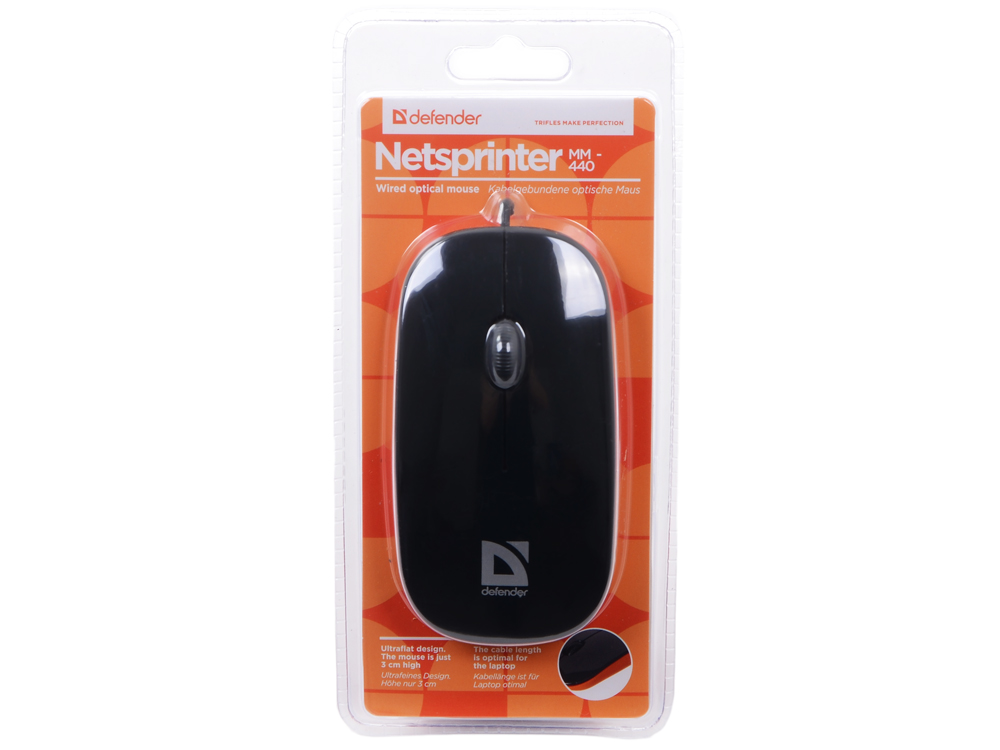 Мышь Defender NetSprinter 440BO(чер-орж),USB 2кн+1кл-кн, оптика, defender forsage drift usb ps2 ps3 12 кн рычаг коробки передач 64370