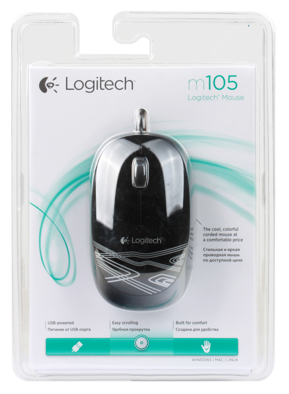 купить Мышь (910-003116) Logitech Mouse M105 Black недорого