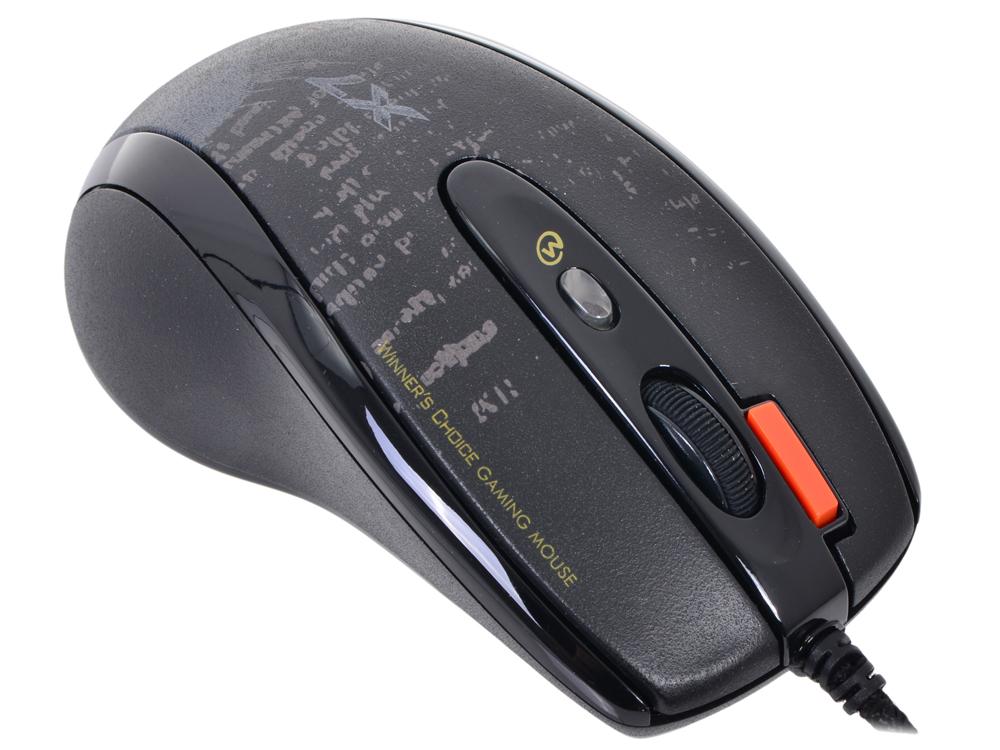 Мышь A4-Tech F5, USB (черный) 7 кн, 3000 dpi   V-Track