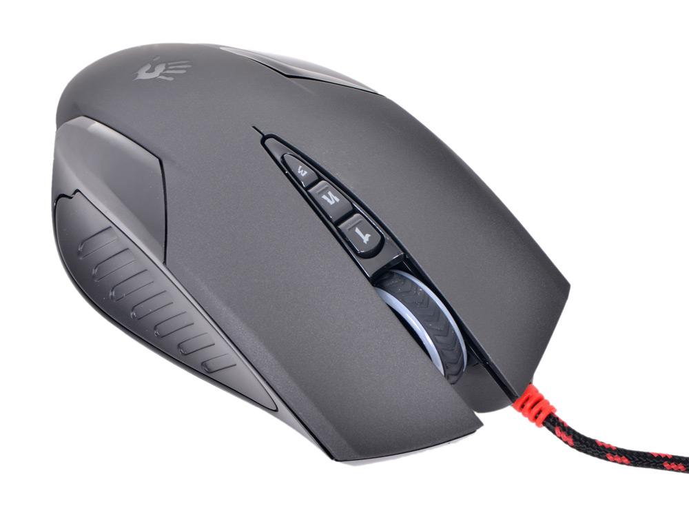Фото - Мышь A4-Tech Bloody V5, USB (черный) 8 кн, 3200 dpi hi fi стойка solid tech ros 2 regular cherry