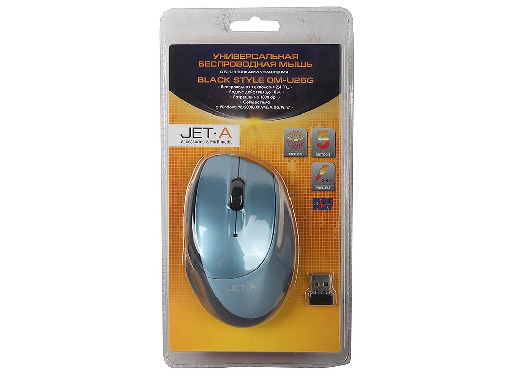 Фото - Беспроводная мышь Jet.A Black Style OM-U26G Blue беспроводная bluetooth колонка edifier m33bt