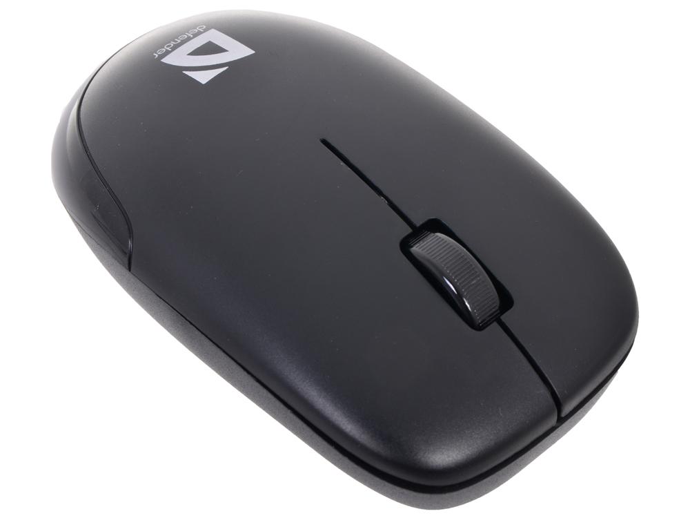 Мышь Defender  Datum MM-015 Nano Black (Черн) 3кнопки,1200dpi  беспроводная