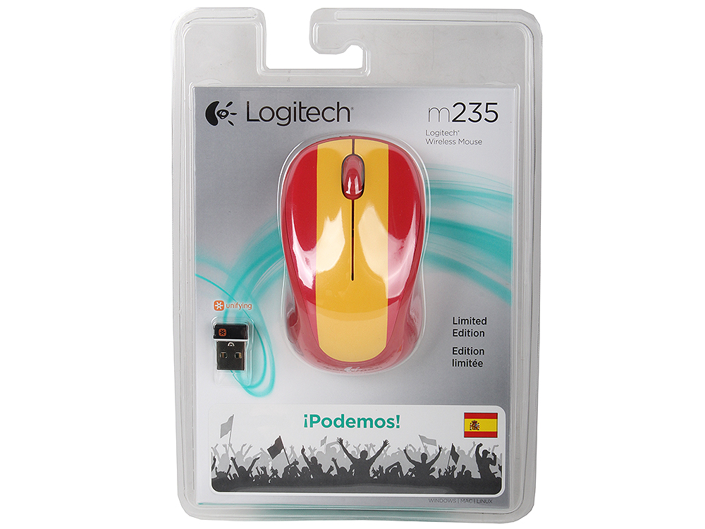 Мышь (910-004028) Logitech Wireless Mouse M235 SPAIN мышь logitech m235 черный usb