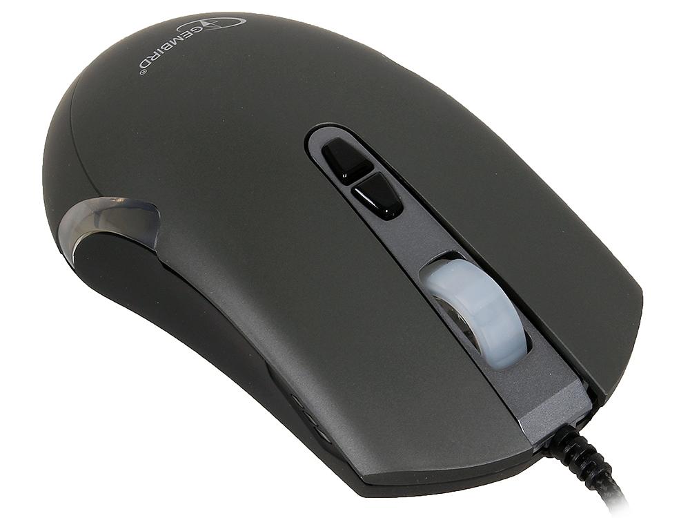 Мышь игровая Gembird MG-01, USB, 6кн.+колесо-кнопка создание макросов, 3500DPI, 1000 Гц, подсветка cтяжка пластиковая gembird nytfr 150x3 6 150мм черный 100шт