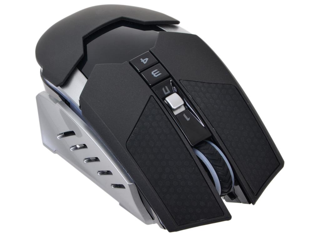 Мышь A4-Tech Bloody RT5 Warrior черный/серый Беспроводная (4000dpi) USB игровая (9кнопок) мышь a4tech bloody warrior rt5 black usb bloody warrior rt5 black usb
