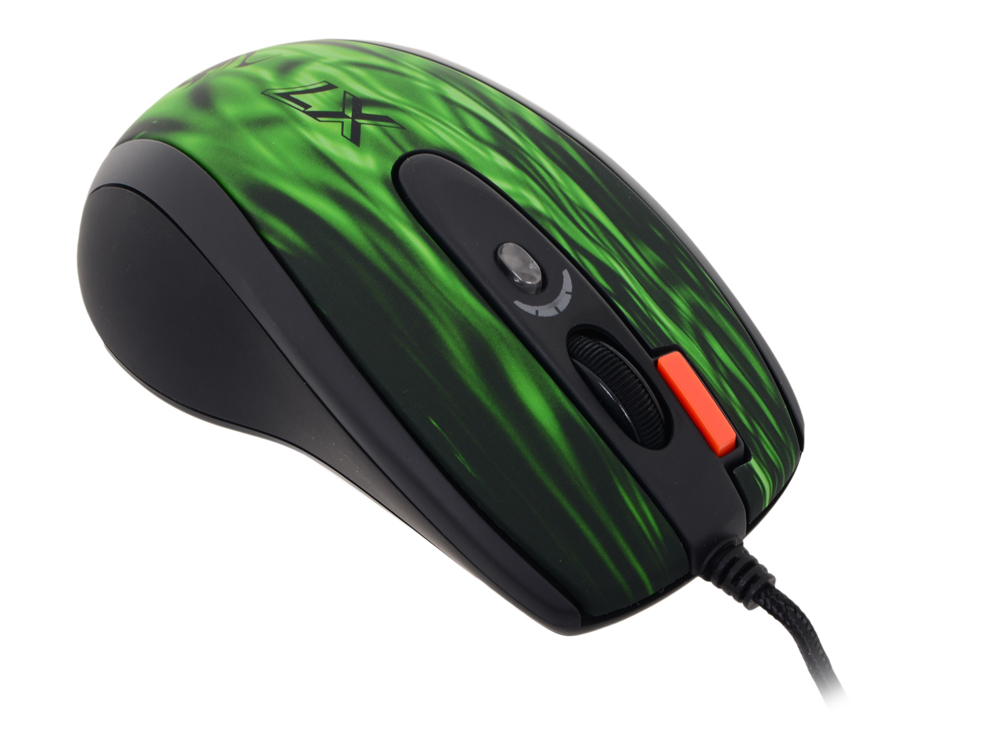 Мышь A4-Tech XL-750BK Green-Fire, USB самокат tech team tiger 2018 light green