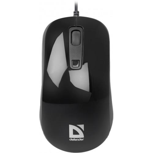 Мышь DEFENDER проводная Datum MB-060 Black(Черный) 3кн+кл 1000/1600dpi