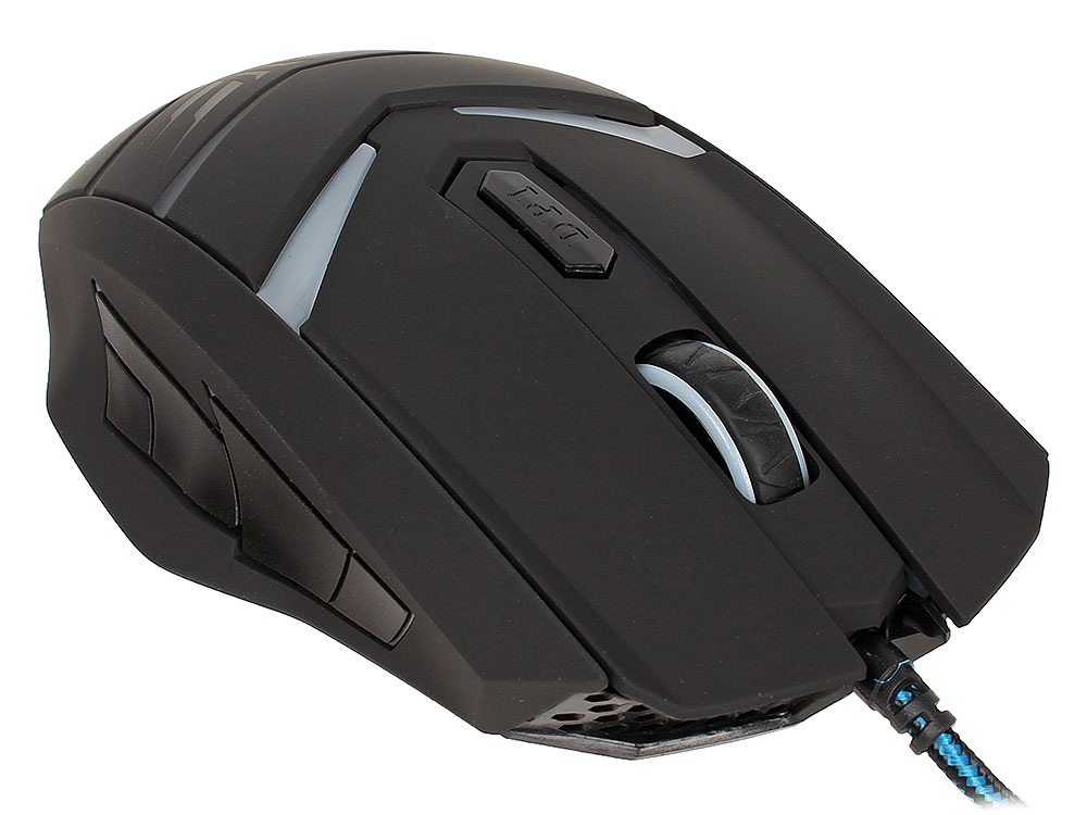 Мышь Oklick 745G LEGACY black/lt.blue optical (2400dpi) USB Gaming (6but)