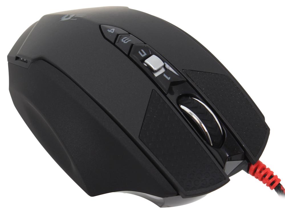 Мышь A4-Tech Bloody Terminator TL7 черный/серый лазерная (8200dpi) USB2.0 игровая (8but) мышь a4 bloody tl70 terminator