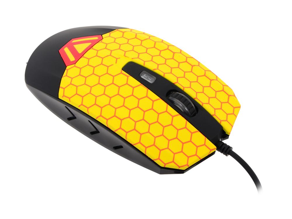 Мышь CBR CM833 Beeman, оптика, встроенное Вибро (вибрация на нажатие левой/правой кнопки, массаж кисти, таймер вибро 1 раз в час), принт, 3200dpi, USB