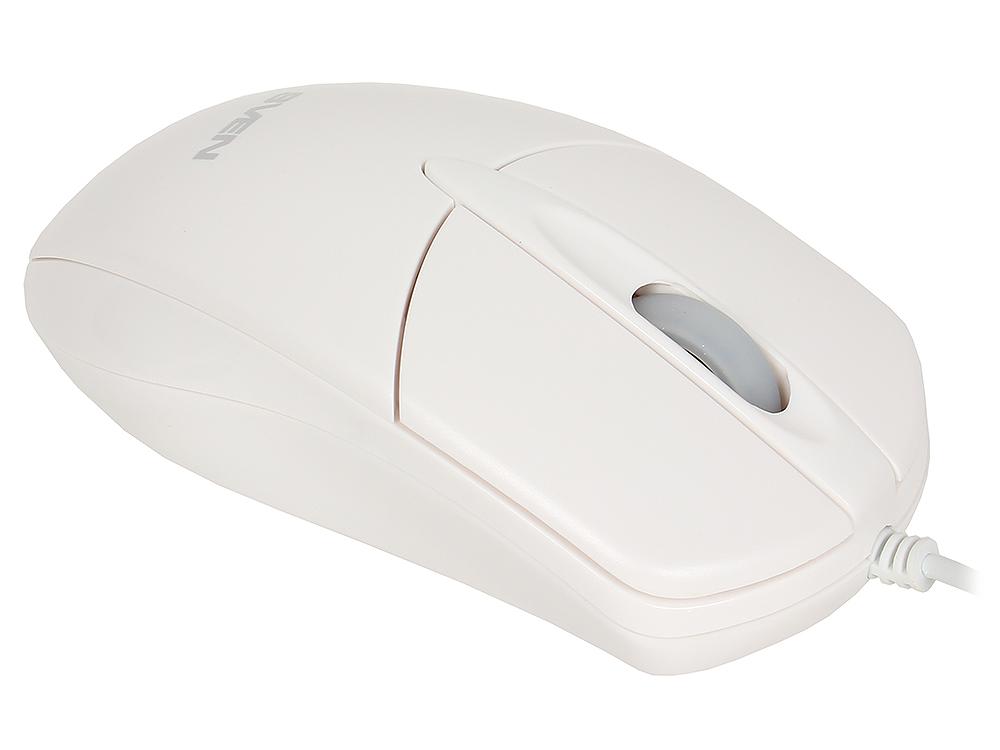 Мышь SVEN RX-112 USB белая, 2+1 клавиши, симметричная форма, коробка цвет