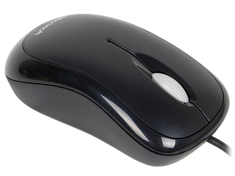 Мышь Microsoft Basic черная оптическая (1000dpi) USB (2but)