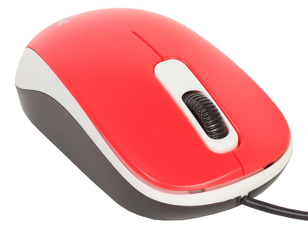 Мышь Genius DX-110 Red, оптическая, 1200 dpi, 3 кнопки, USB