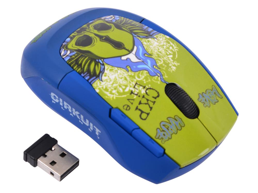Мышь оптическая Cirkuit Planet CPL-MW1130 Love&Hate беспроводная USB 2.0 800/1600 dpi 4 кнопки+скролл с нано-адаптером