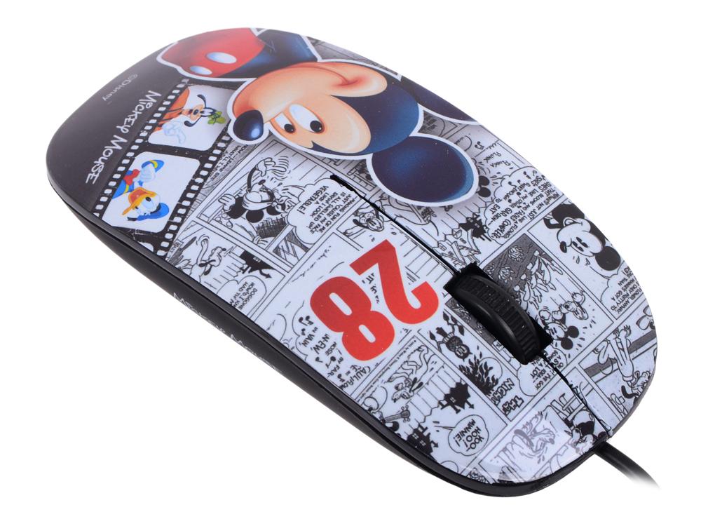 Мышь оптическая Cirkuit Planet DSY-MO150 Mickey проводная USB 2.0 1000 dpi 2 кнопки+скролл